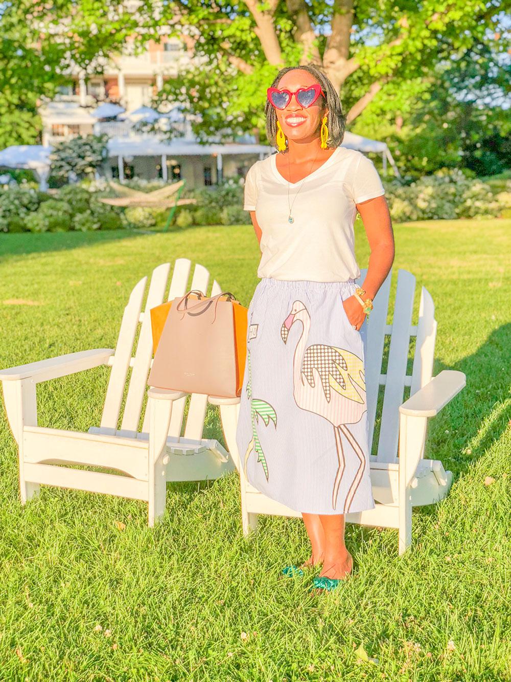 Shaunda Necole Inns of Aurora in my Midi Skirt