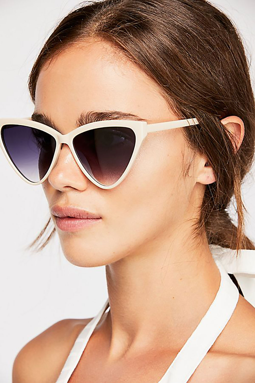 free people large cat eye sunglasses