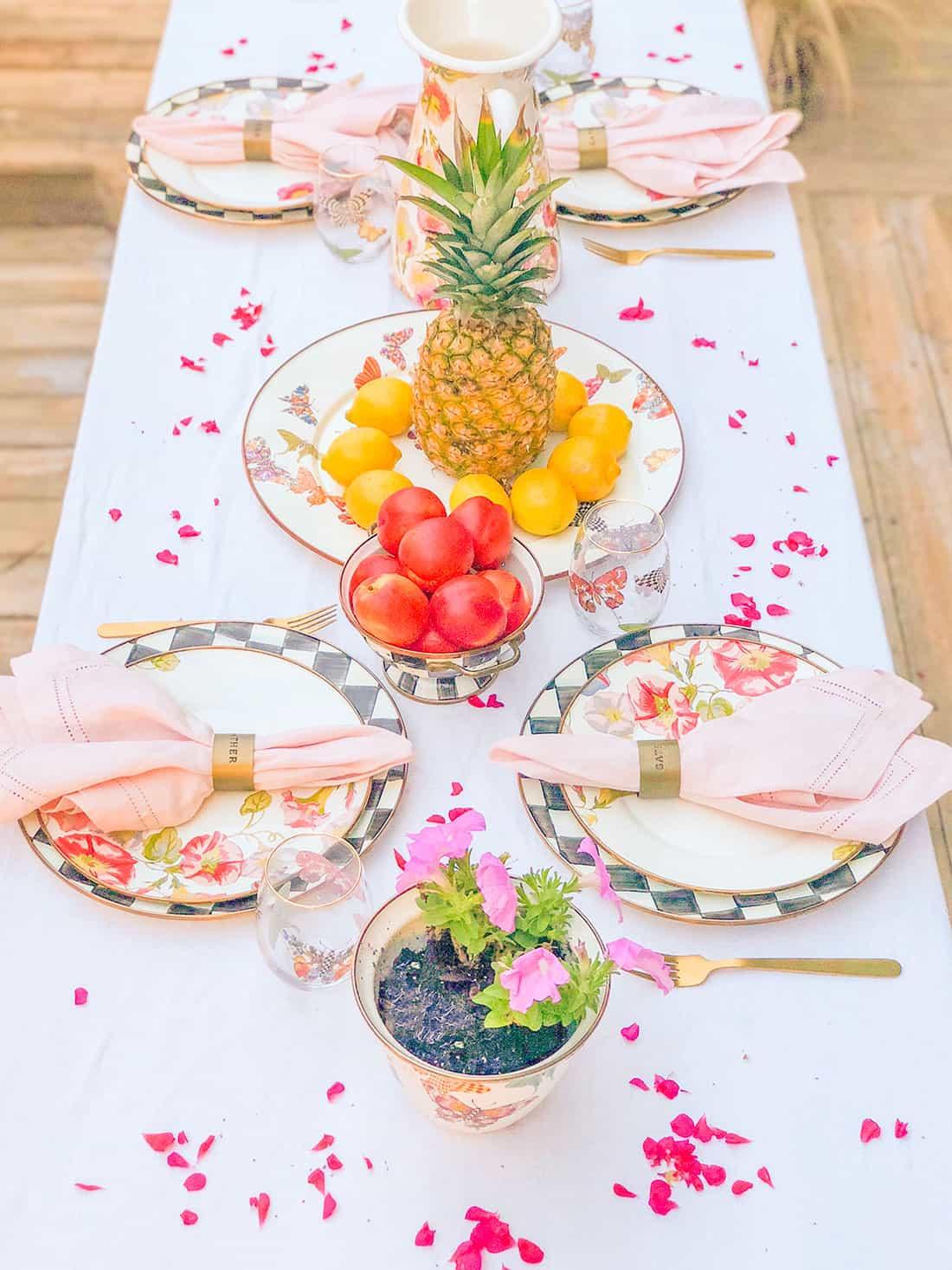 MacKenzie-Childs summer table setting Shaunda Necole