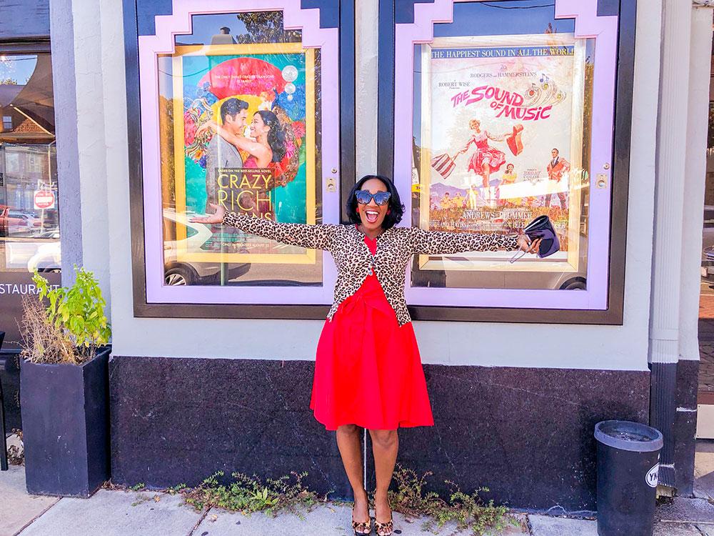 naro cinema retro red dress