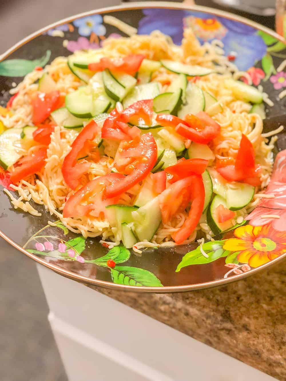 shrimp & veggie pasta recipe