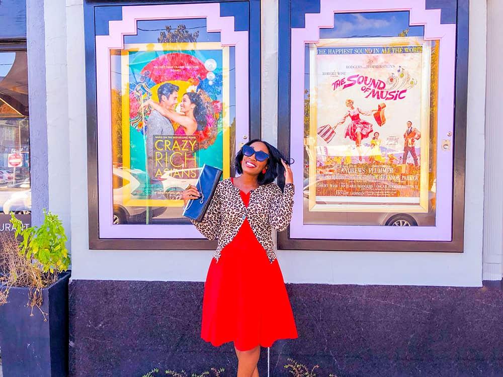 Shaunda Necole Red Retro Dress and Leopard cardigan