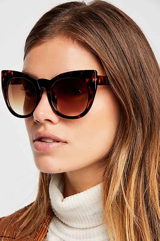 free people round cat eye sunglasses