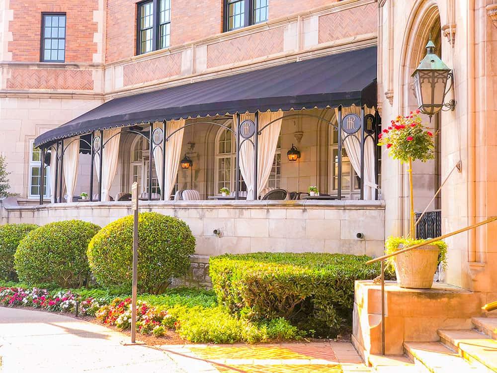 the hotel roanoke porch