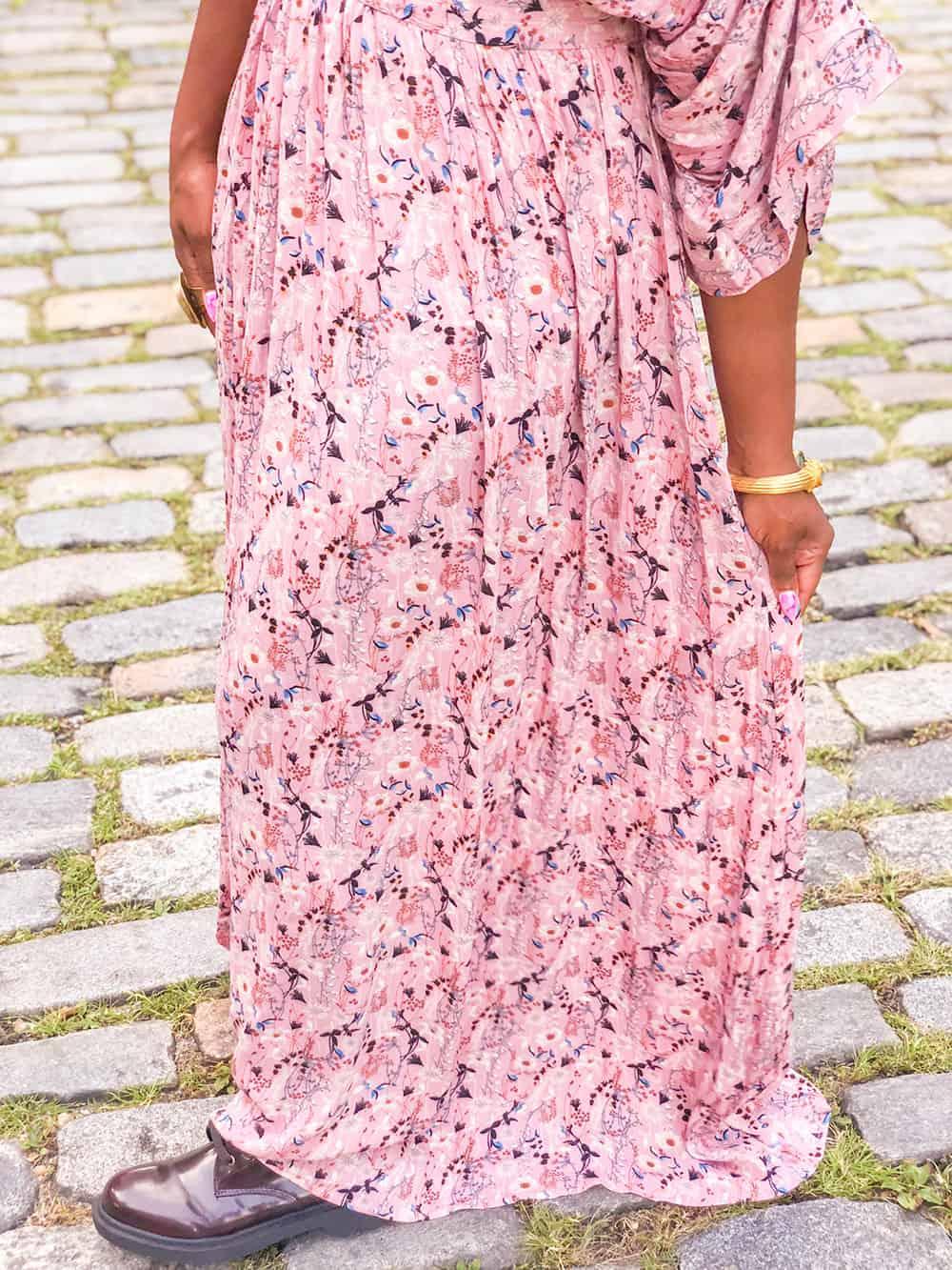 SheIn romantic floral dress