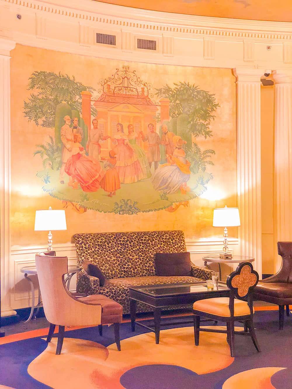 hotel roanoke wall murals
