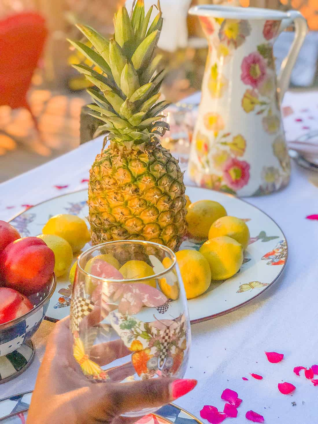MacKenzie-Childs pineapples