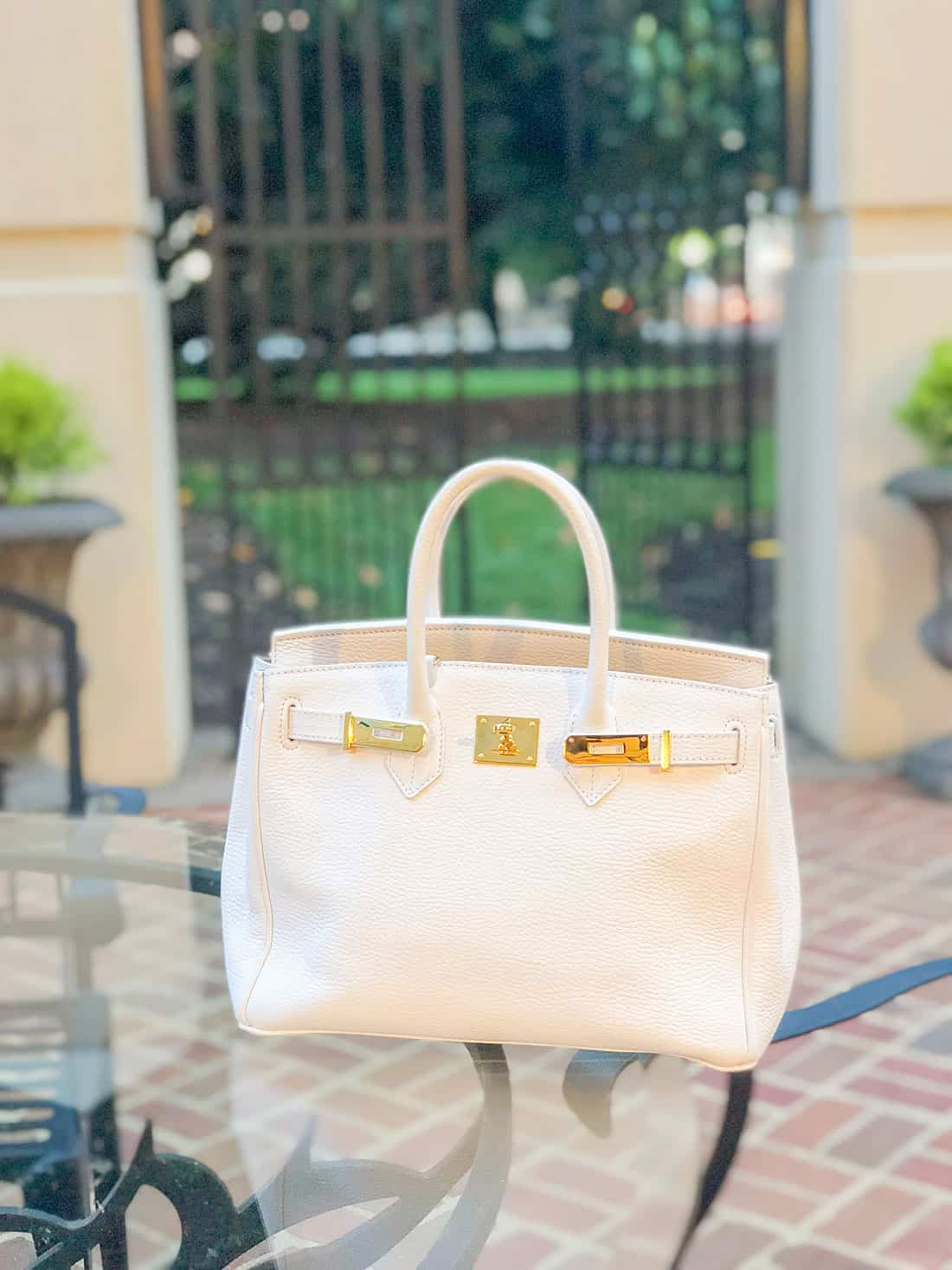 Teddy Blake new york white caty bag