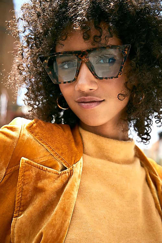 free people square cat eye sunglasses
