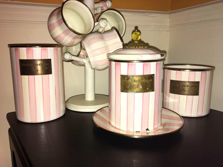 ShaundaNecole.com | MacKenzie-Childs Patterns Gone But Not Forgotten- pink Bathing Hut pattern
