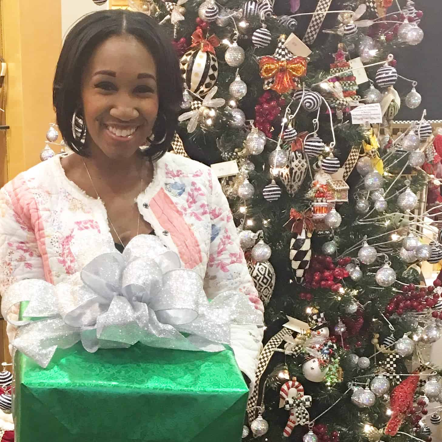 How To Gift Wrap Like A Holiday Pro With Shiny Wrapping Paper & A Fancy Bow!   Shaunda Necole