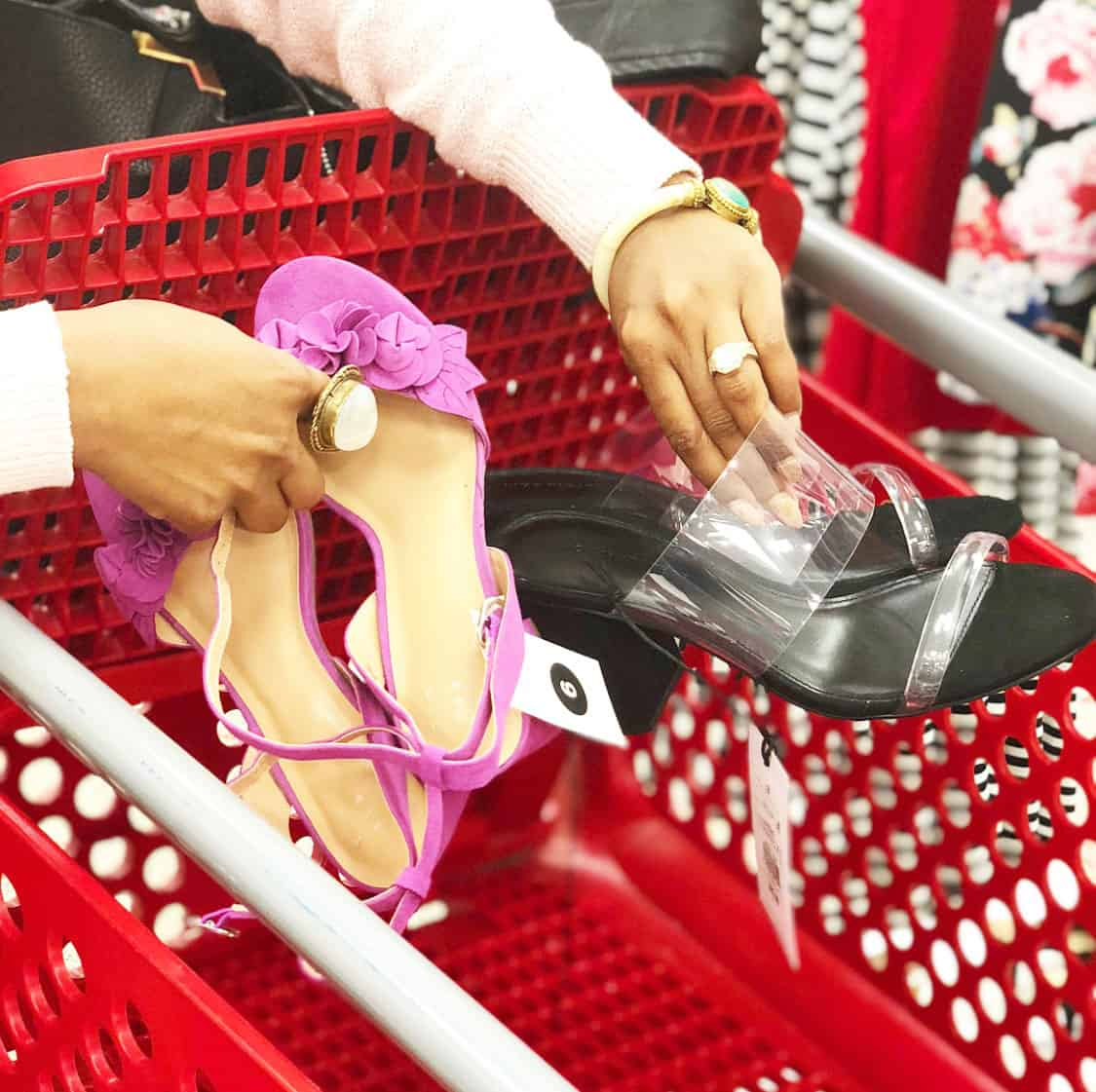 Shaunda Necole   I Can't Be Trusted At Target because they have Clear Heels