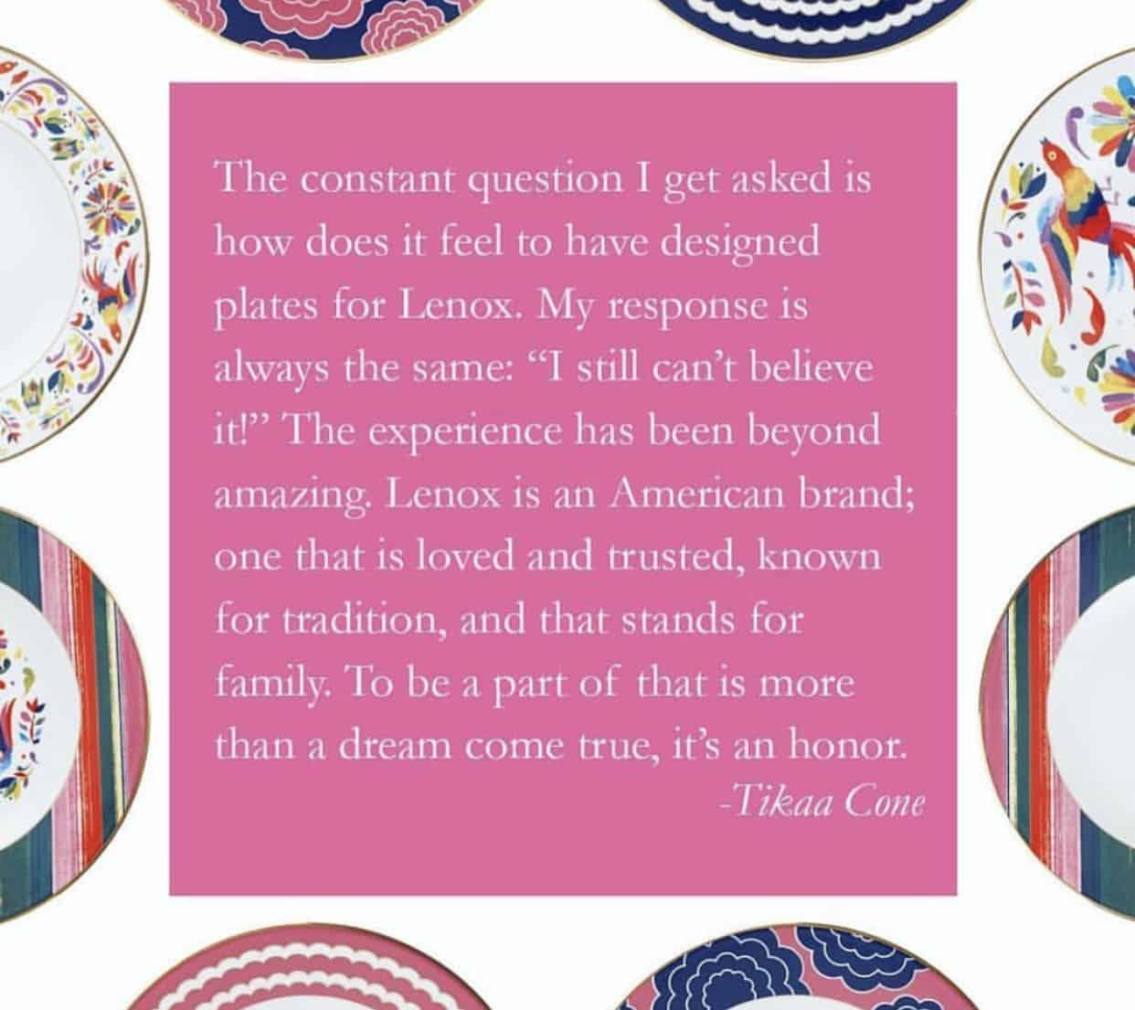 Totally Tikaa designed plates for Lenox!