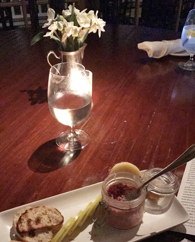 the aurora inn restaurant duck liver pate
