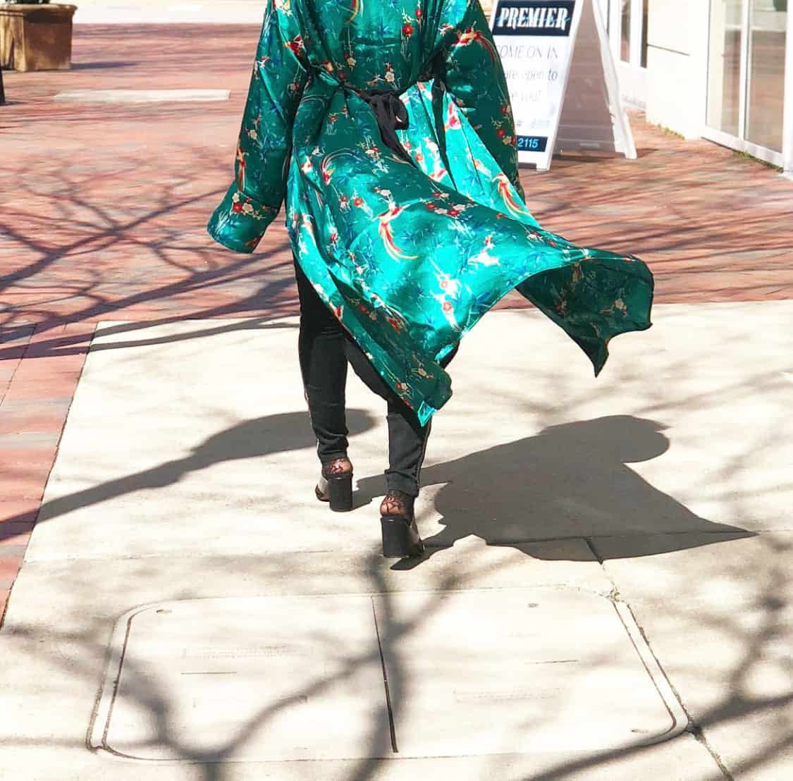 Forever 21 Silk Kimono Robe