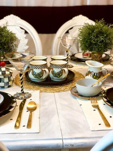 MacKenzie-Childs Retired Pieces Christmas Table Setting Ideas & Inspiration