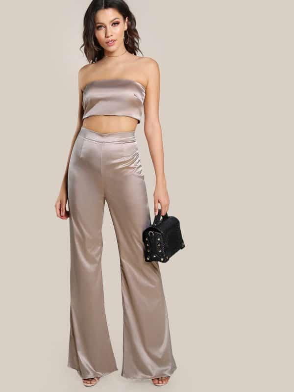 SheIn 2-piece bandeau outfit