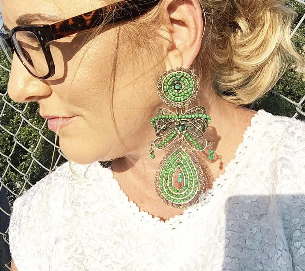 Totally Tikaa big earrings