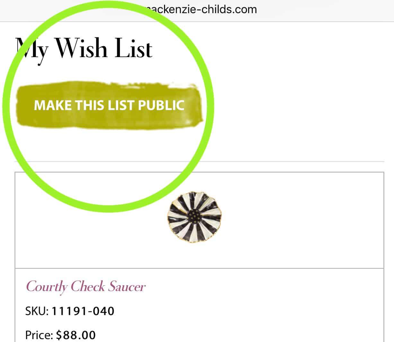 My MacKenzie-Childs Barn Sale Wish List