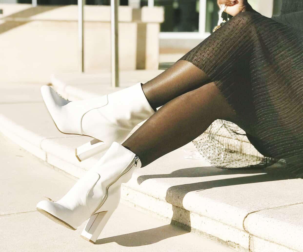 Shaunda Necole White Shoes After Labor Day