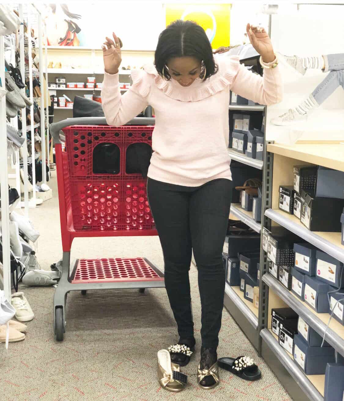 Shaunda Necole   I Can't Be Trusted At Target because the have DV shoes