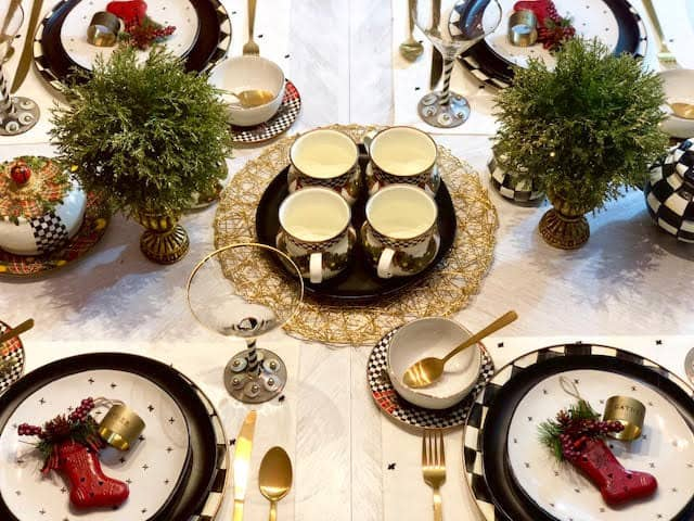 MacKenzie-Childs Retired Pieces Christmas Table Setting