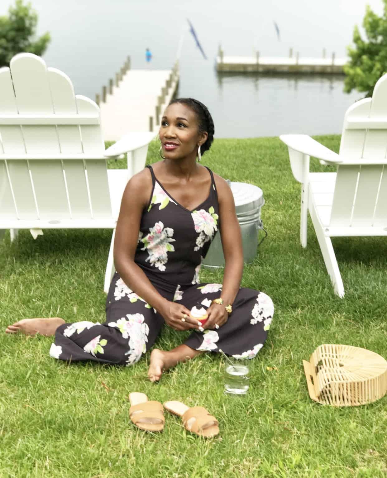 Shaunda Necole Target Floral Jumpsuit