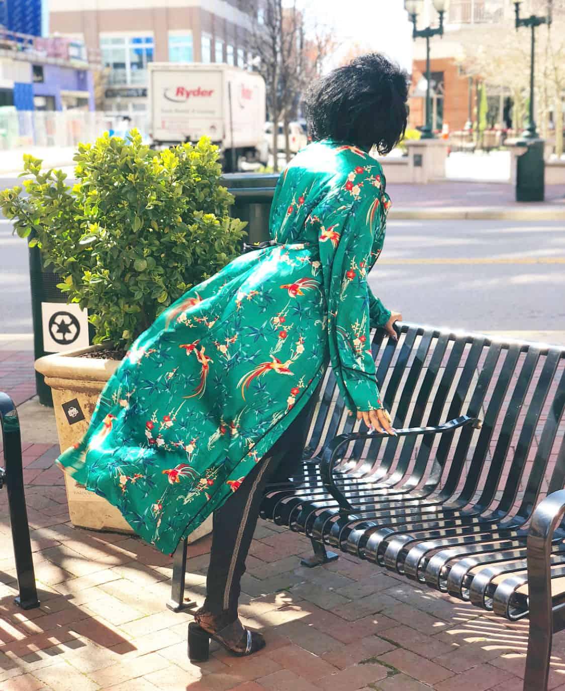 Shaunda Necole Silk Kimono Robe