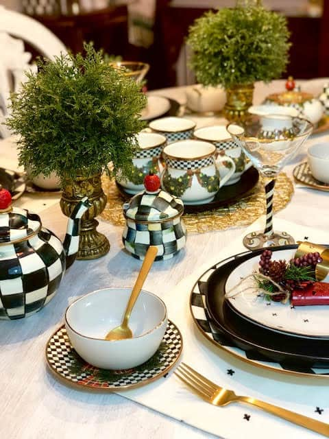 MacKenzie-Childs Retired Patterns Christmas Table Setting Ideas & Inspiration