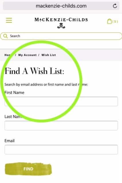 Make A MacKenzie-Childs Barn Sale Wish List