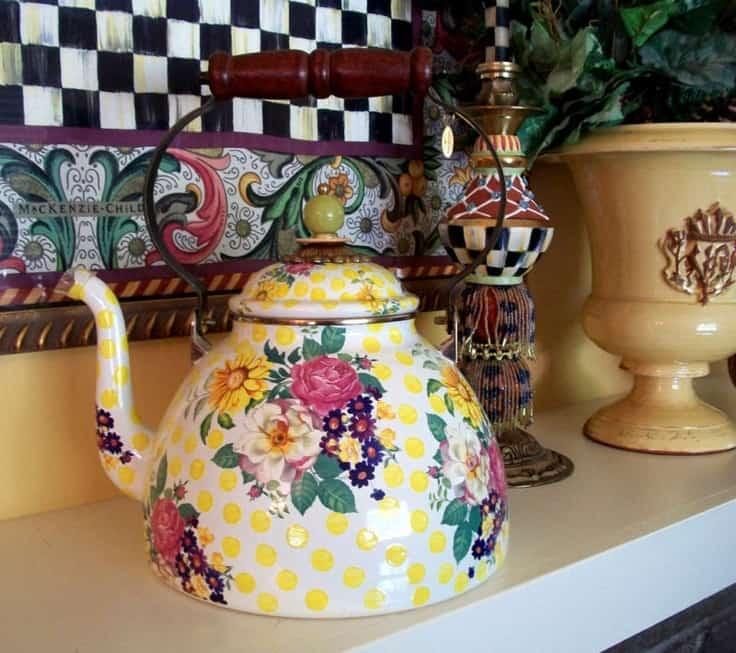 ShaundaNecole.com | MacKenzie-Childs Patterns Gone But Not Forgotten- Buttercup Tea Kettle