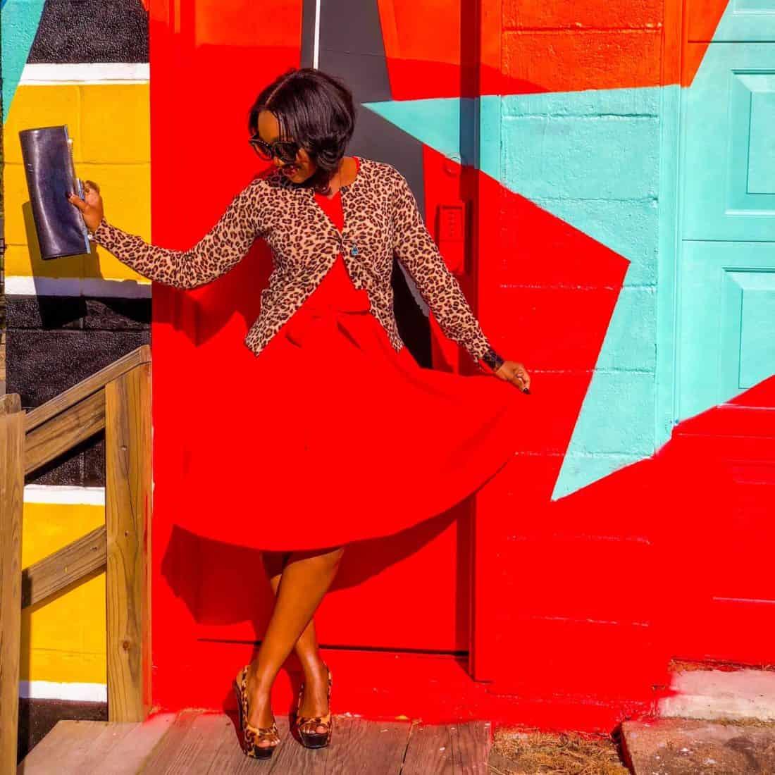 Shaunda Necole Red Retro Dress