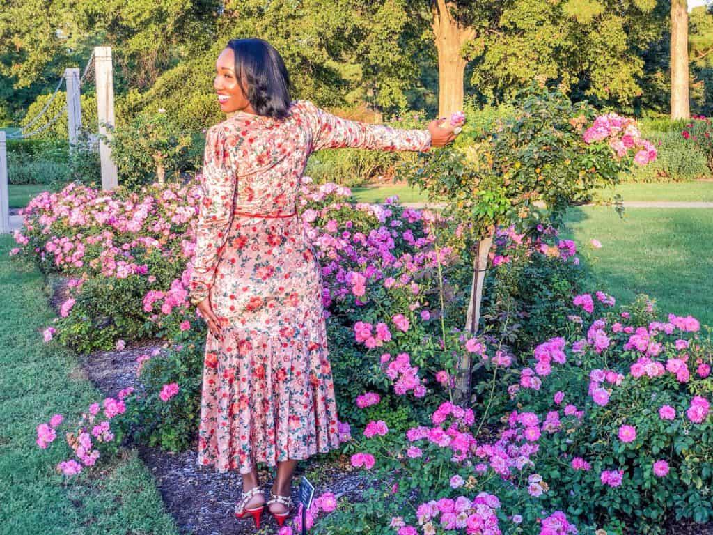 Shaunda Necole In the rose garden