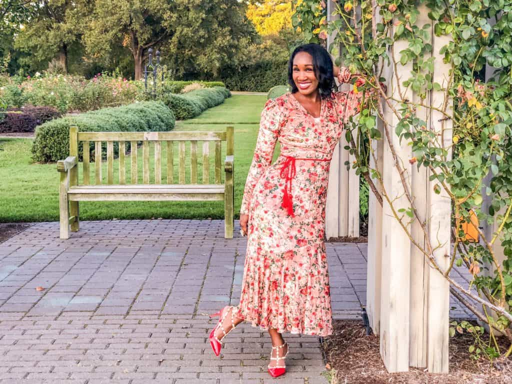 SheIn Rose and Apple Holiday Dress