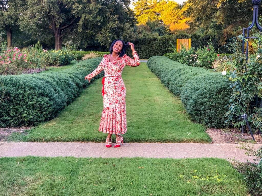Shaunda Necole whimsy in the rose garden