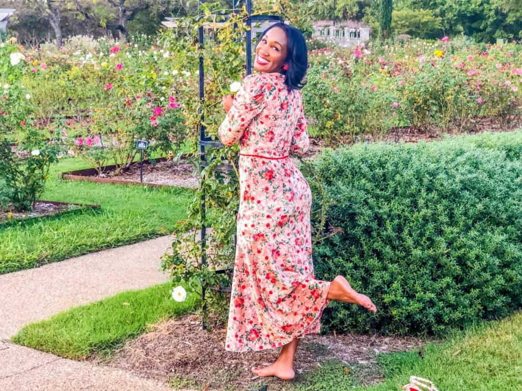 Shaunda Necole whimsy in the rose gardn