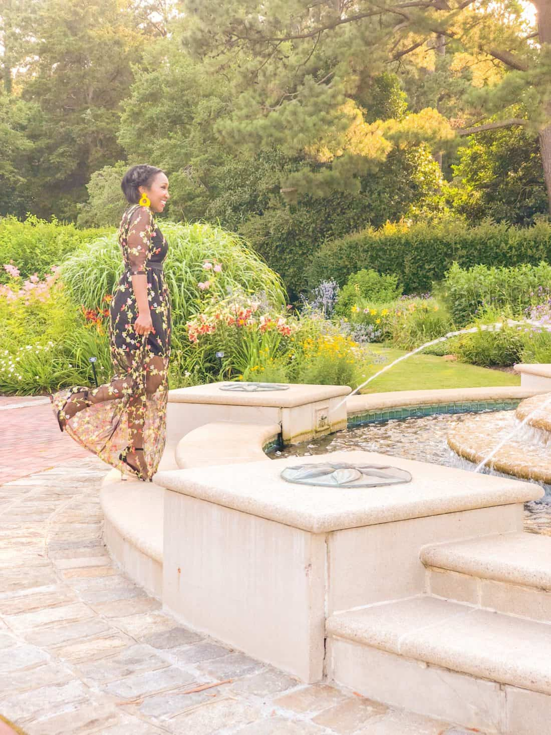shaunda necole whimsical floral dress