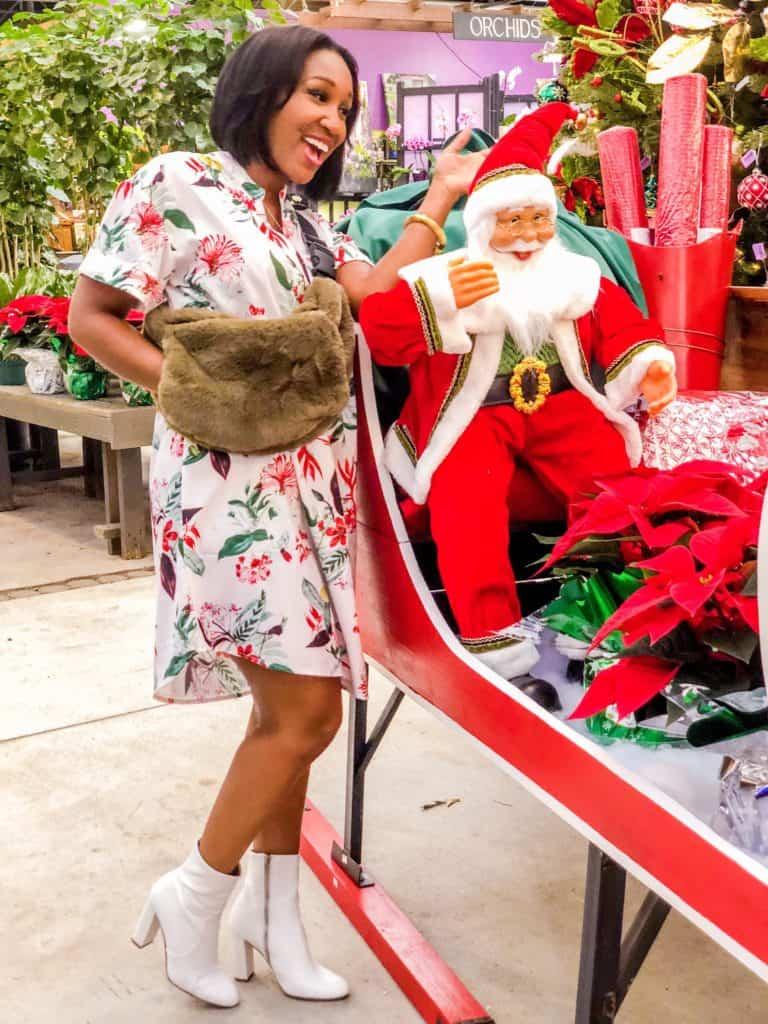 Shaunda Necole and Santa Claus