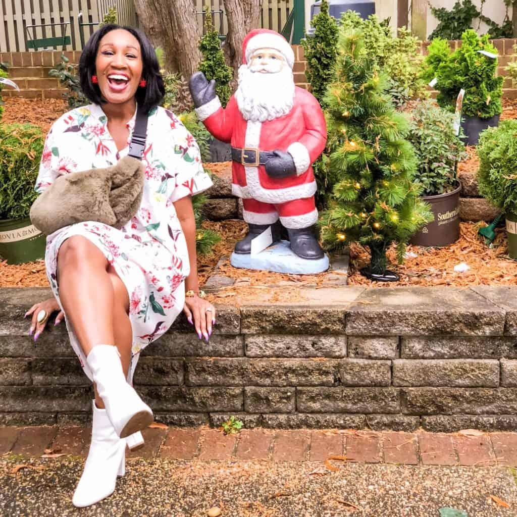 ShaundaNecole.com Sitting with Santa