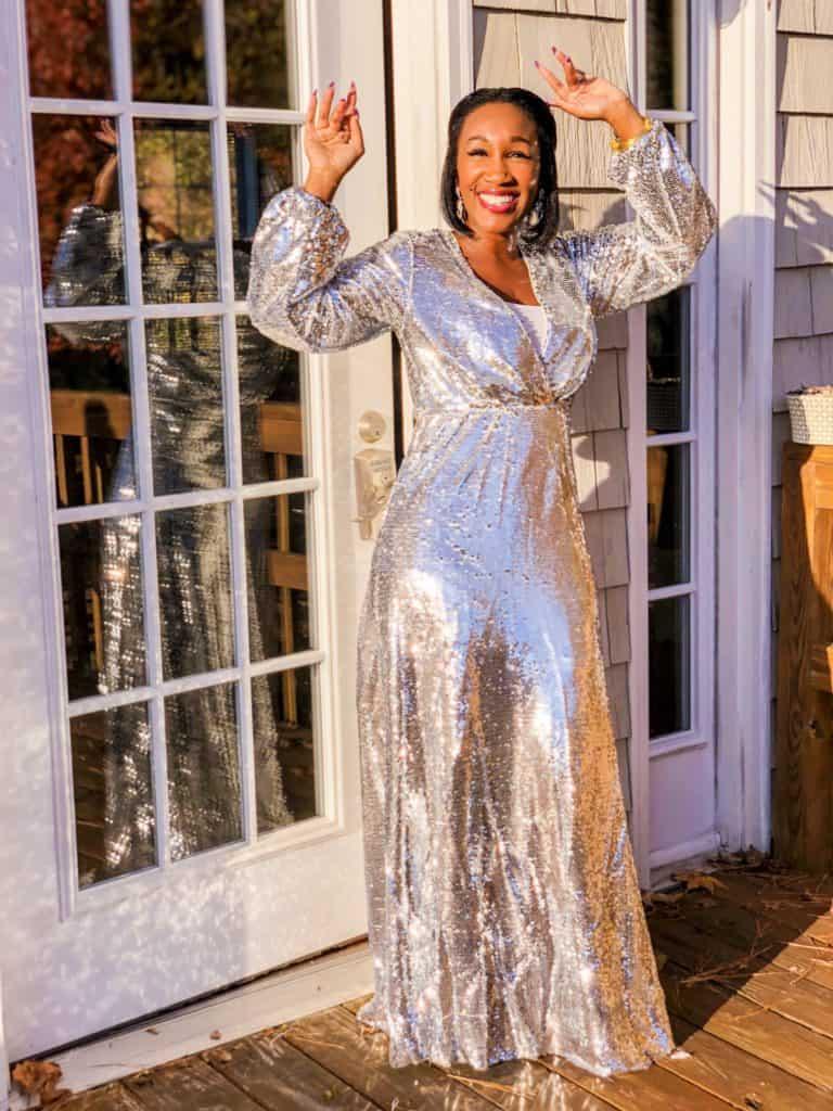 Shaunda Necole NYE ball drop dress