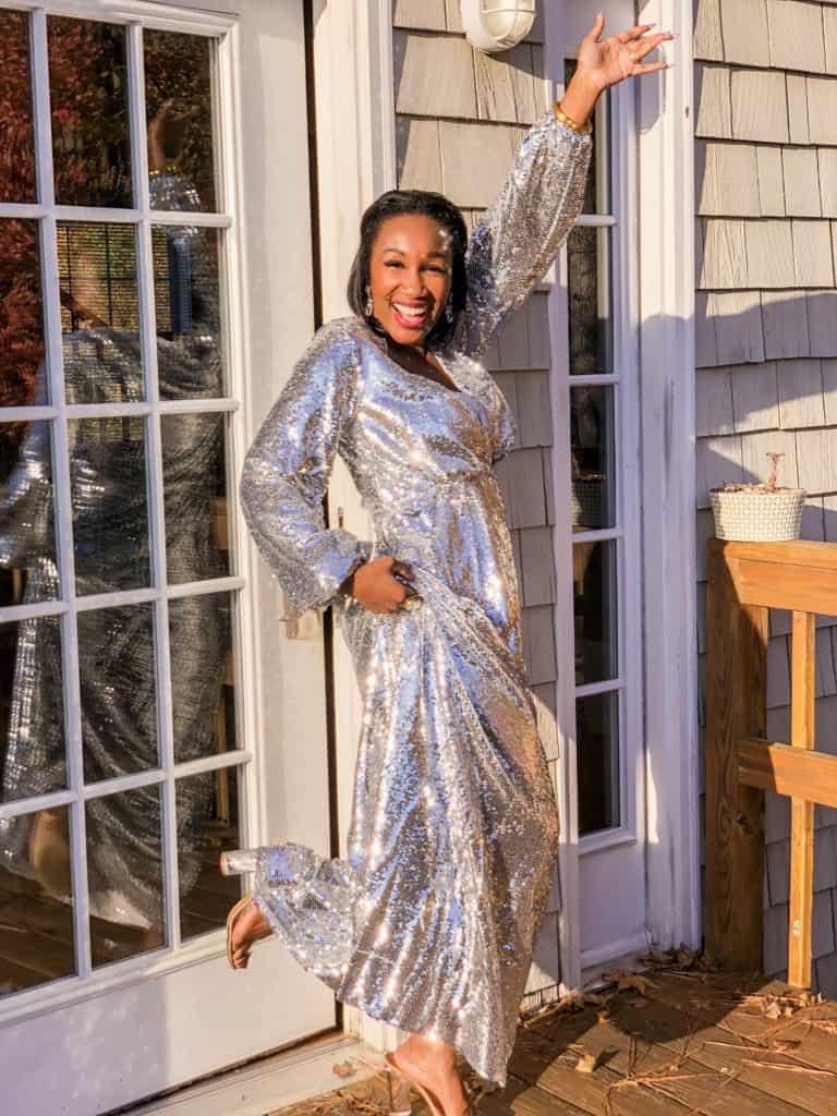 Shaunda Necole NYE sparkle ready!