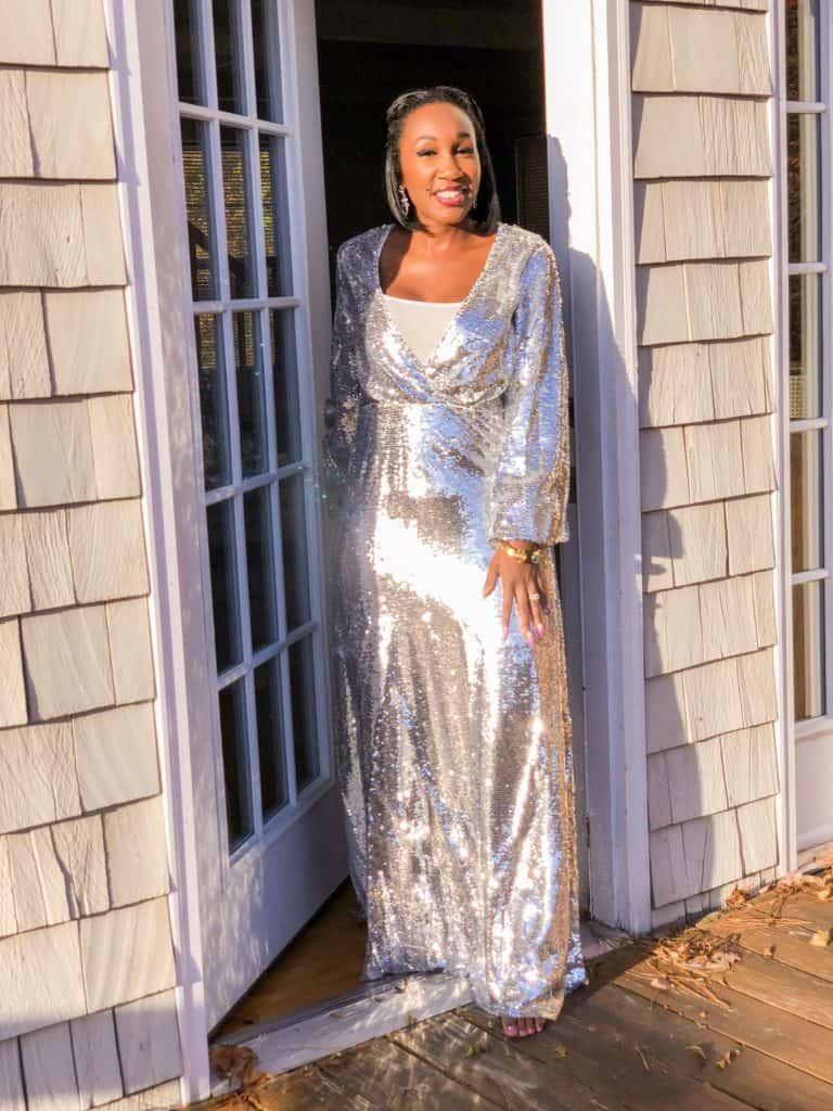 Shaunda Necole the perfect NYE sparkle dress