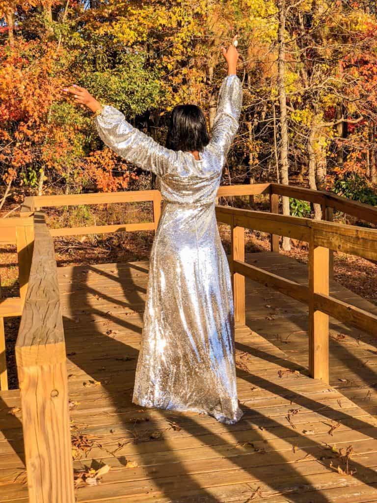 Shaunda Necole NYE ball gown