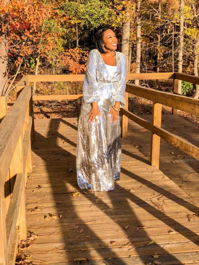 Shaunda Necole NYE sparkle ball gown