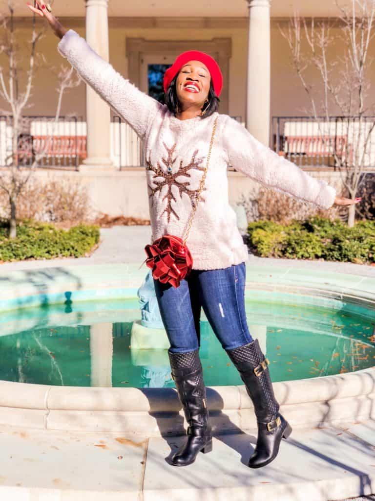 Shaunda Necole x Betsey Johnson Holiday Bow Bag