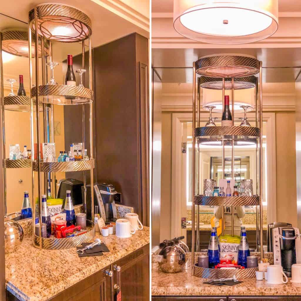 Our stay at Four Seasons Las Vegas- guest mini bar