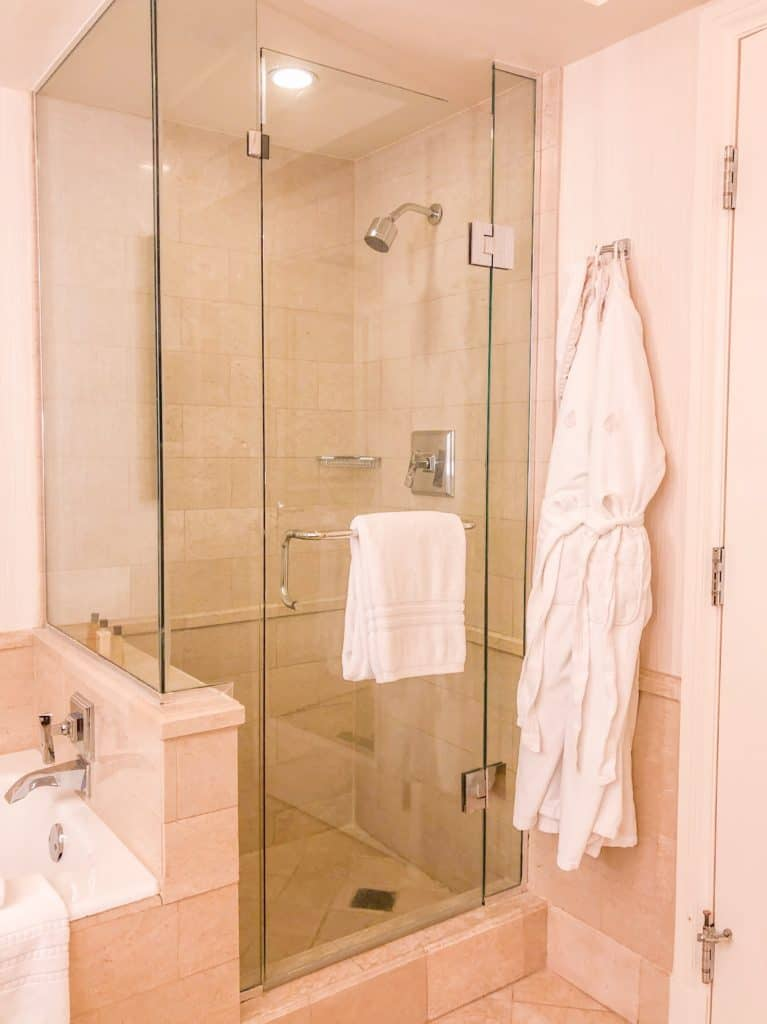 ShaundaNecole.com | Our Stay at Four Seasons Hotel Las Vegas- walk in shower
