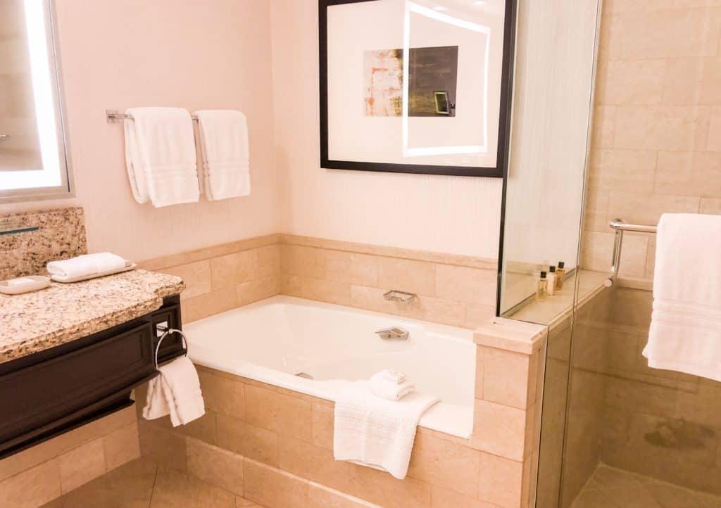 ShaundaNecole.com | Our Stay at Four Seasons Hotel Las Vegas- bath and shower