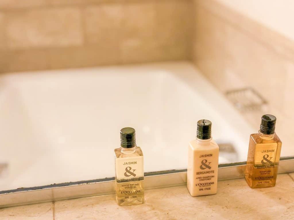ShaundaNecole.com | Our Stay at Four Seasons Hotel Las Vegas- L'Occitane shower essentials