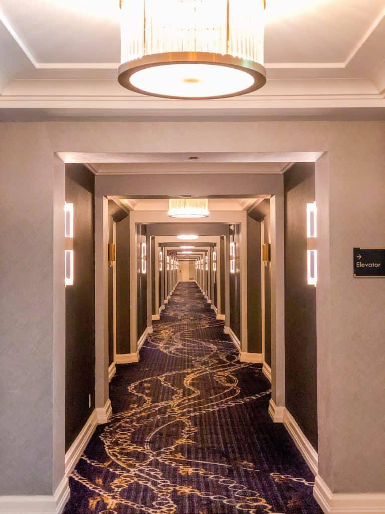ShaundaNecole.com | Our Stay at Four Seasons Hotel Las Vegas- hotel hallway